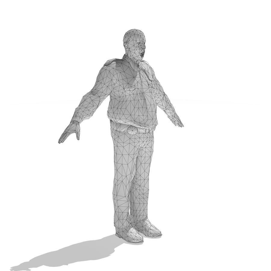 låg polis zombie royalty-free 3d model - Preview no. 6
