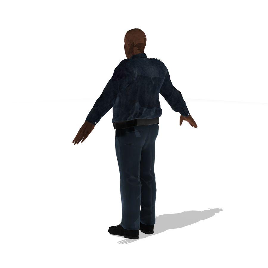 låg polis zombie royalty-free 3d model - Preview no. 3