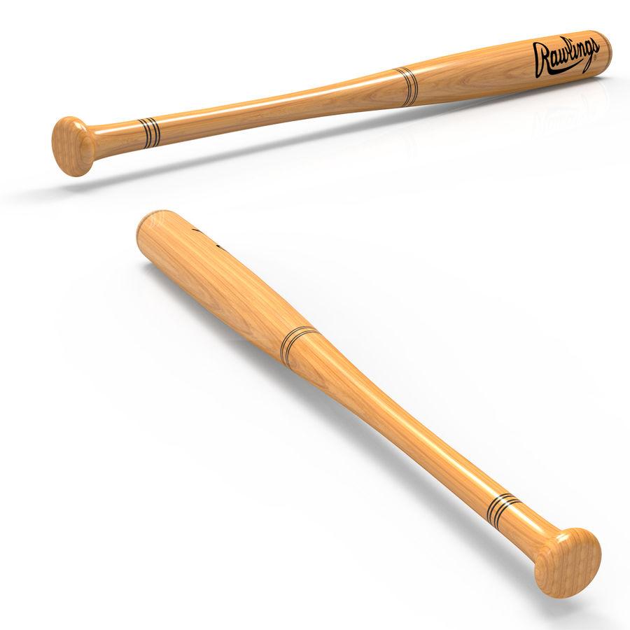 baseball bat royalty-free 3d model - Preview no. 6