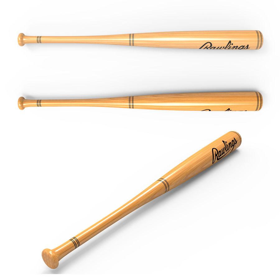 baseball bat royalty-free 3d model - Preview no. 3