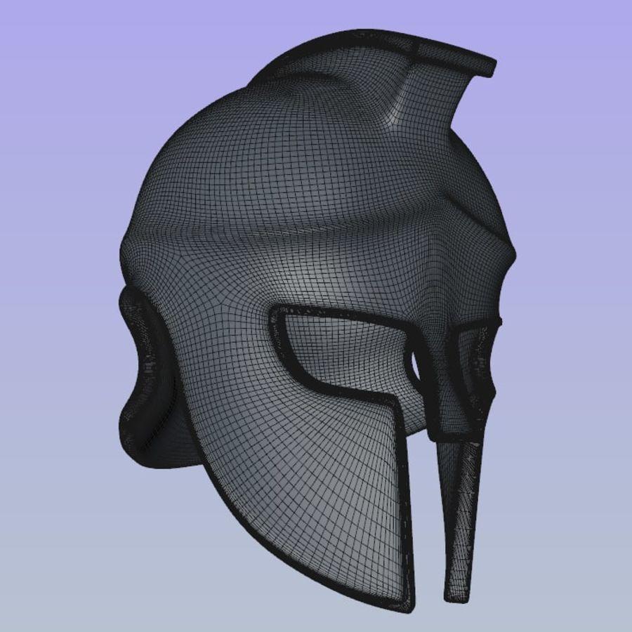 Greek Helmet (Corinthian) royalty-free 3d model - Preview no. 3