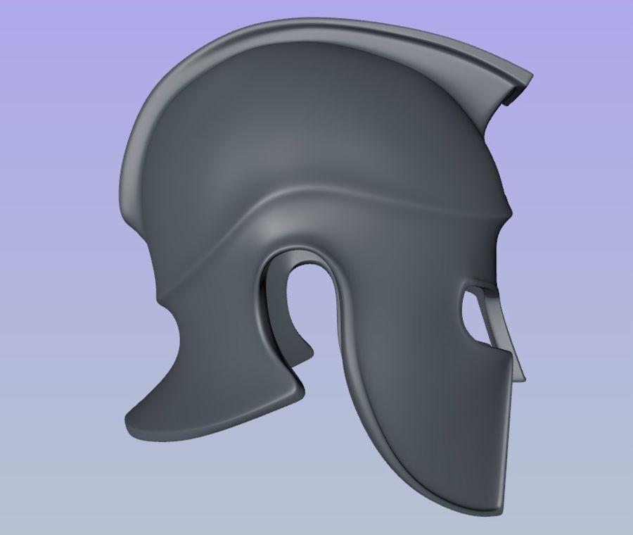 Greek Helmet (Corinthian) royalty-free 3d model - Preview no. 6