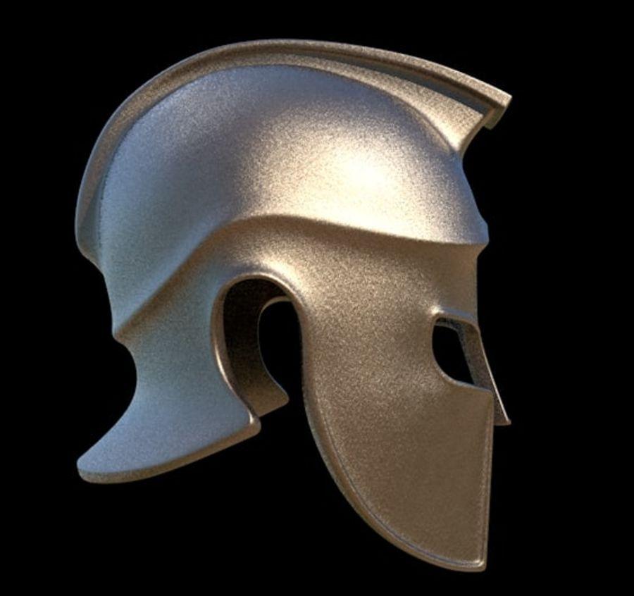 Greek Helmet (Corinthian) royalty-free 3d model - Preview no. 5
