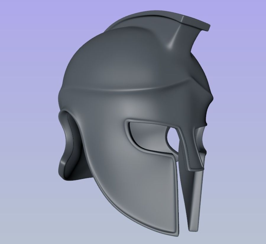 Greek Helmet (Corinthian) royalty-free 3d model - Preview no. 2
