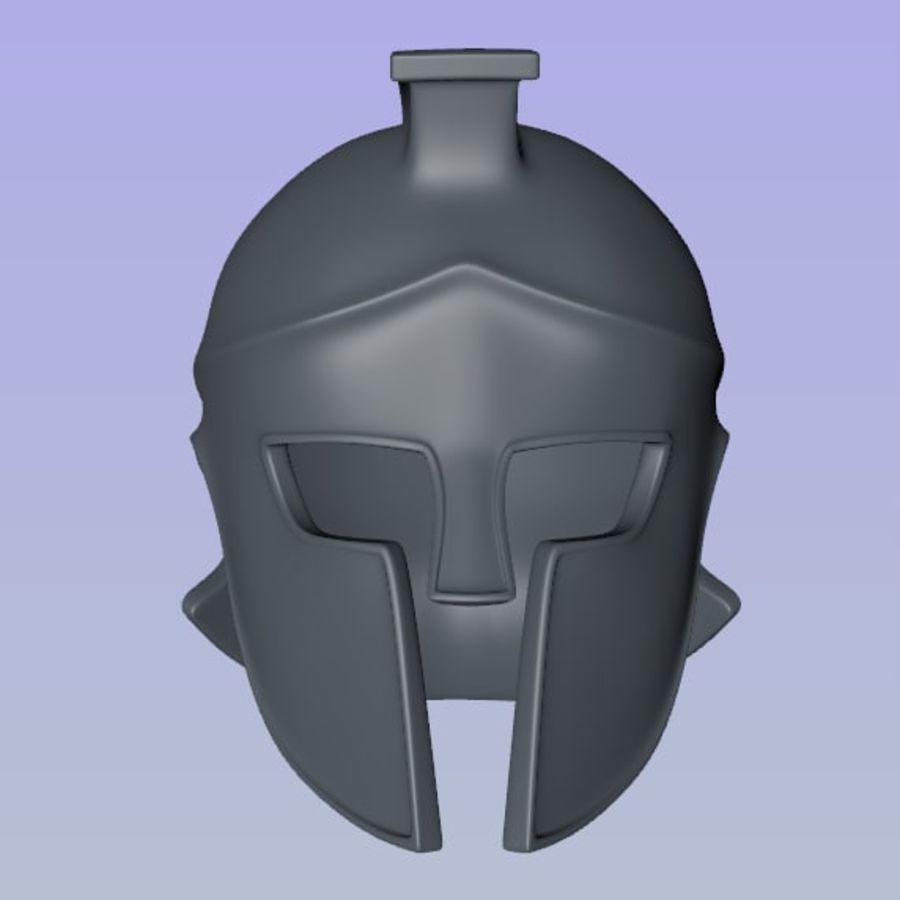 Greek Helmet (Corinthian) royalty-free 3d model - Preview no. 4