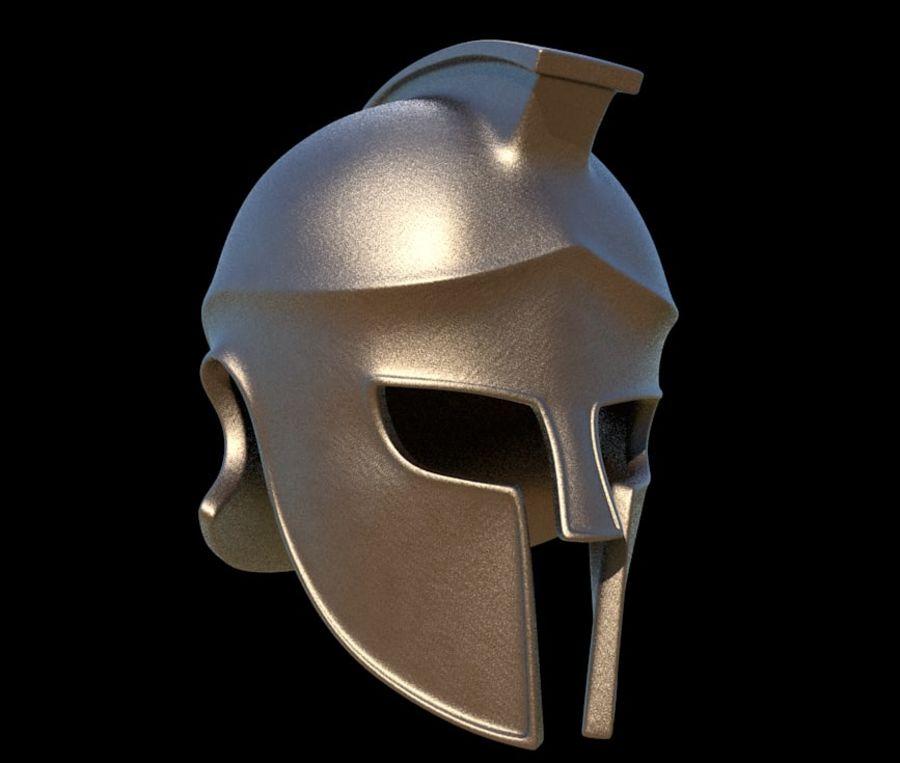 Greek Helmet (Corinthian) royalty-free 3d model - Preview no. 1