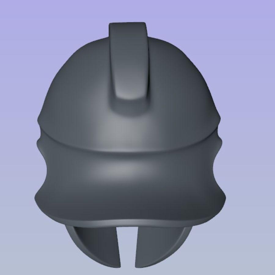 Greek Helmet (Corinthian) royalty-free 3d model - Preview no. 8