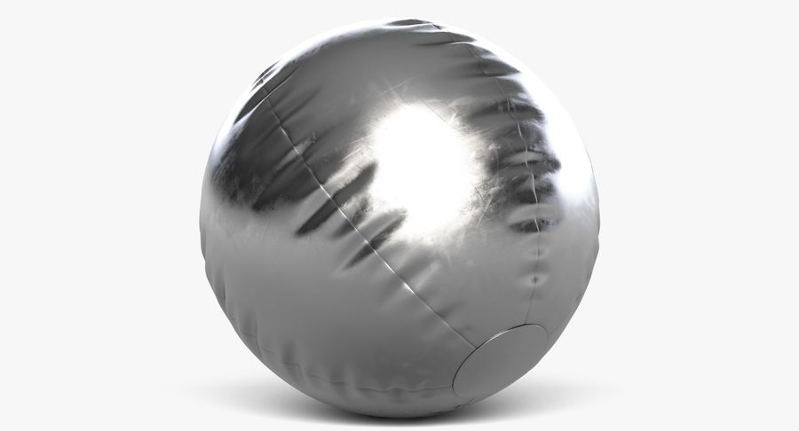 Beach Ball 3 Metalic royalty-free 3d model - Preview no. 5