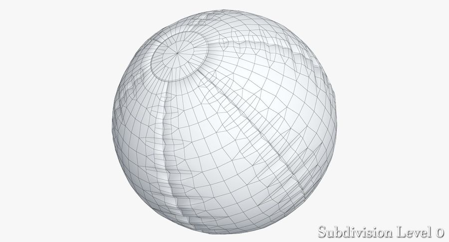 Beach Ball 3 Metalic royalty-free 3d model - Preview no. 8