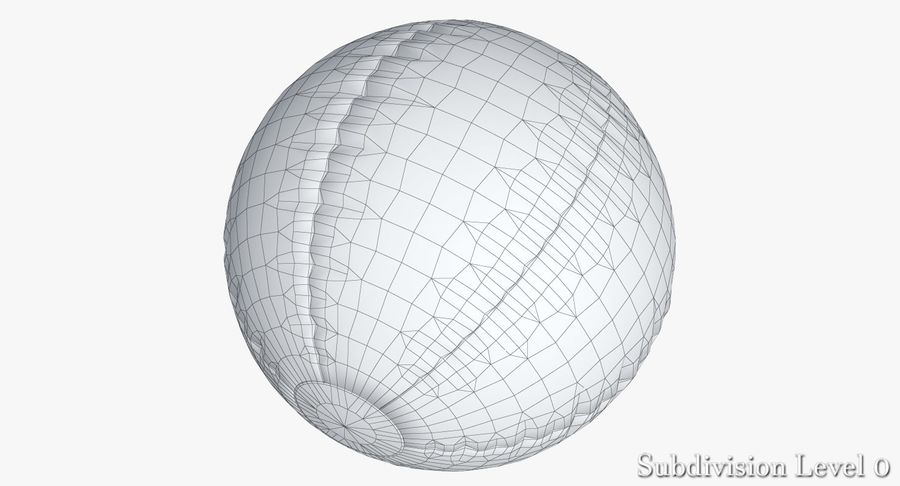 Beach Ball 3 Metalic royalty-free 3d model - Preview no. 12