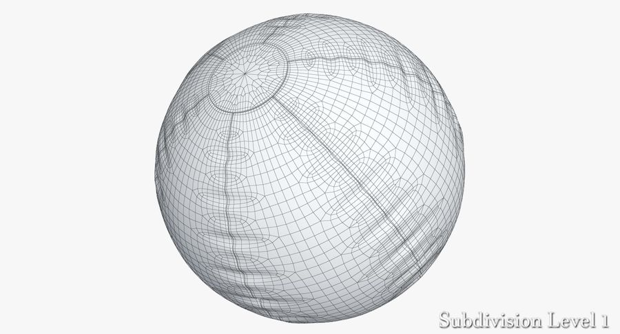 Beach Ball 3 Metalic royalty-free 3d model - Preview no. 9