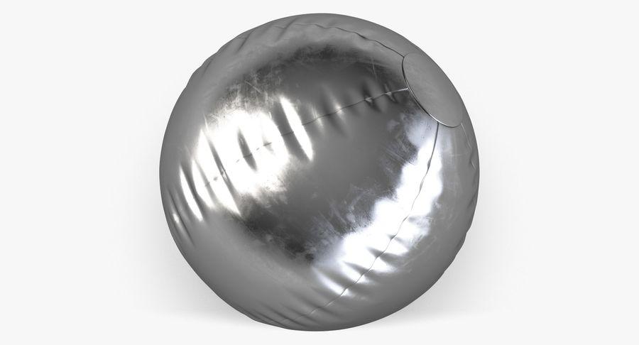 Beach Ball 3 Metalic royalty-free 3d model - Preview no. 7