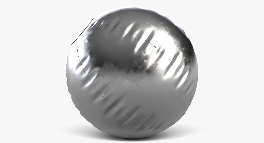 Beach Ball 3 Metalic royalty-free 3d model - Preview no. 4