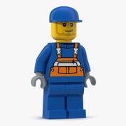 Lego Man Worker 3d model