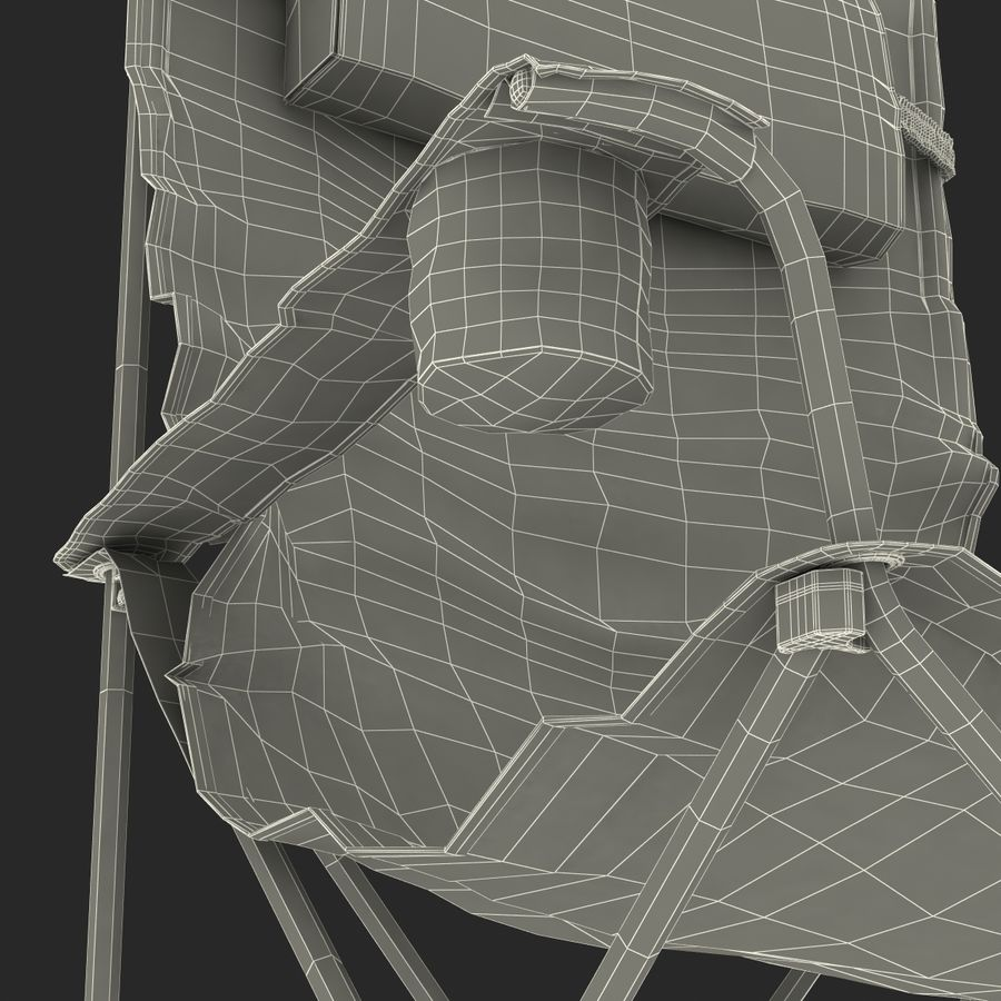 Camping Chair royalty-free 3d model - Preview no. 24