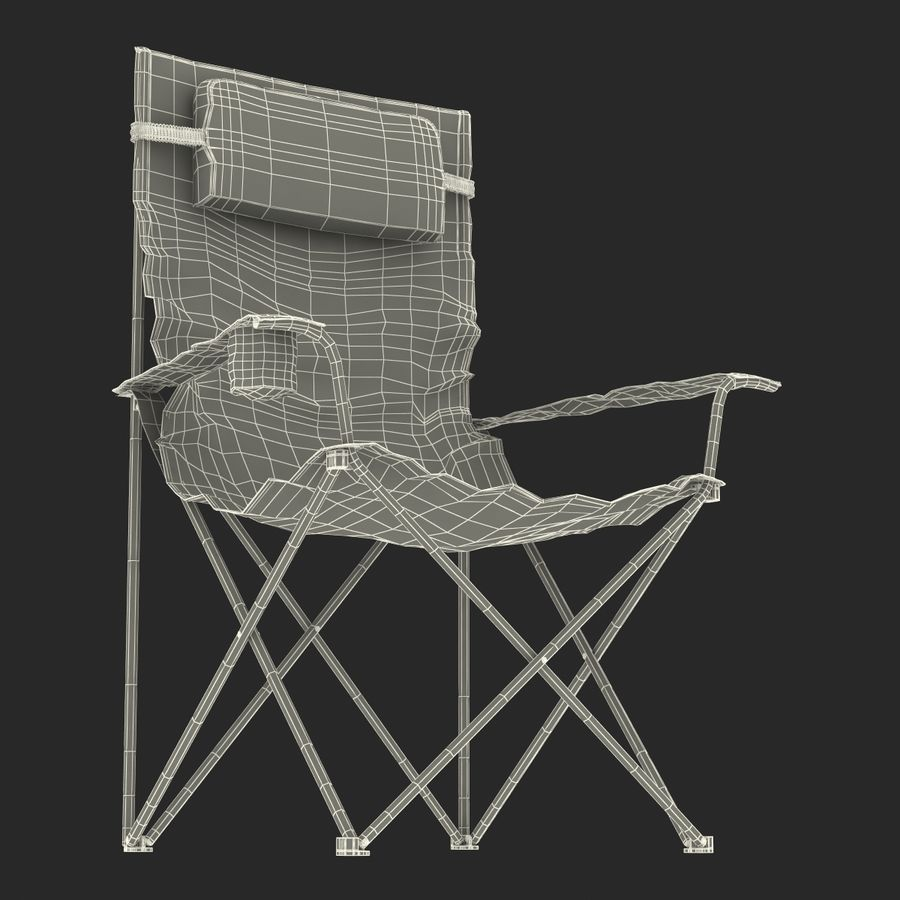 Camping Chair royalty-free 3d model - Preview no. 23