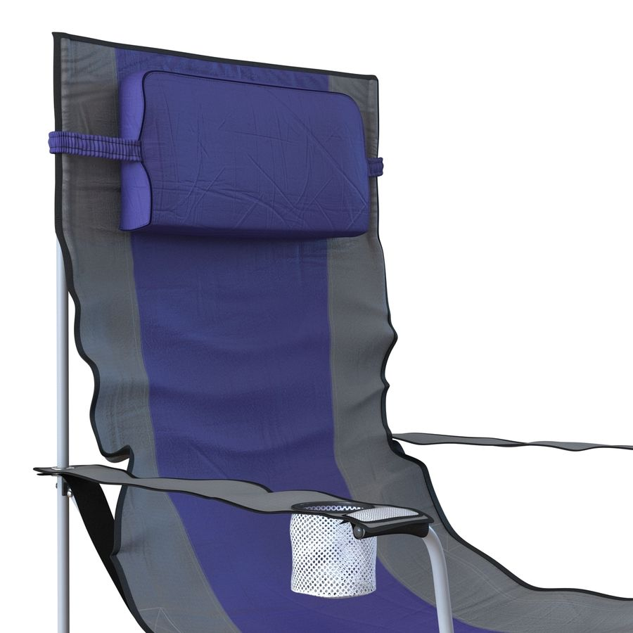 Camping Chair royalty-free 3d model - Preview no. 8