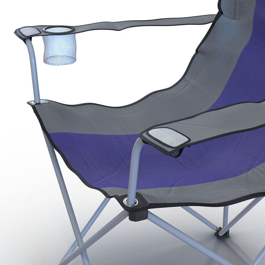 Camping Chair royalty-free 3d model - Preview no. 9