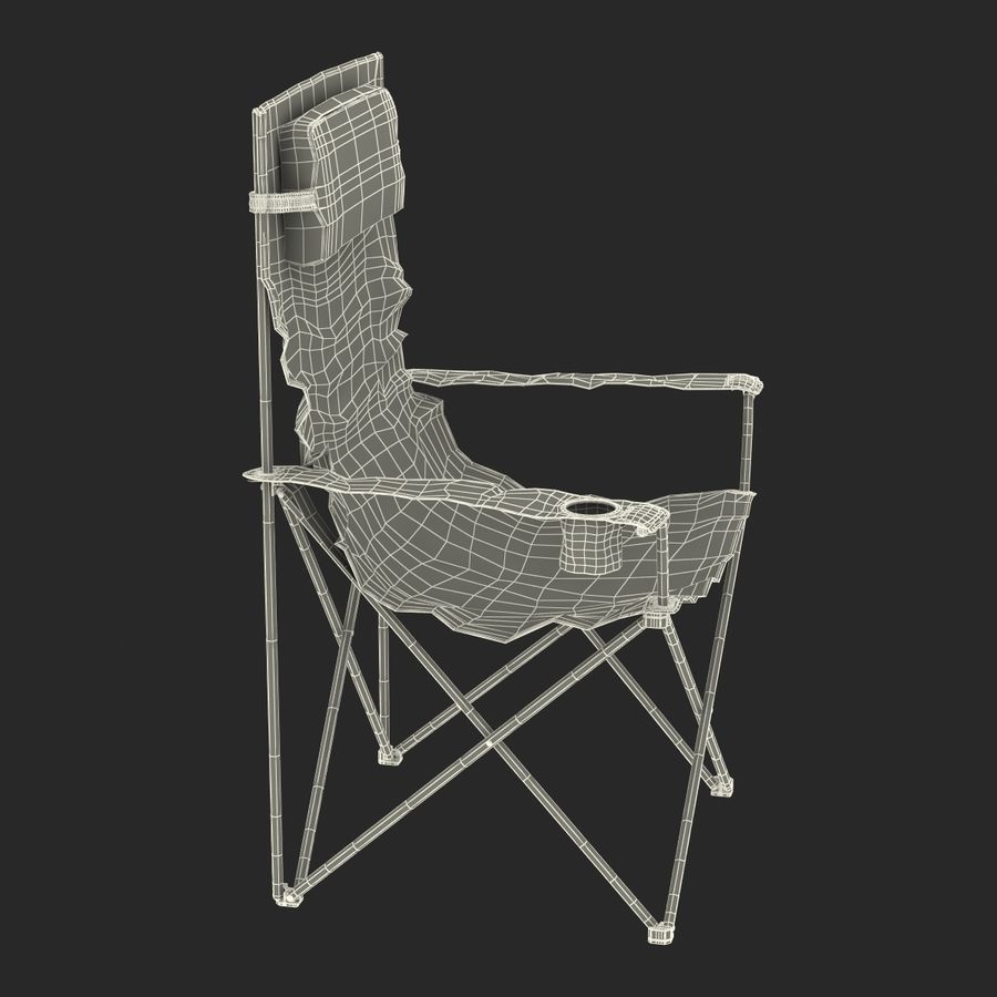 Camping Chair royalty-free 3d model - Preview no. 19