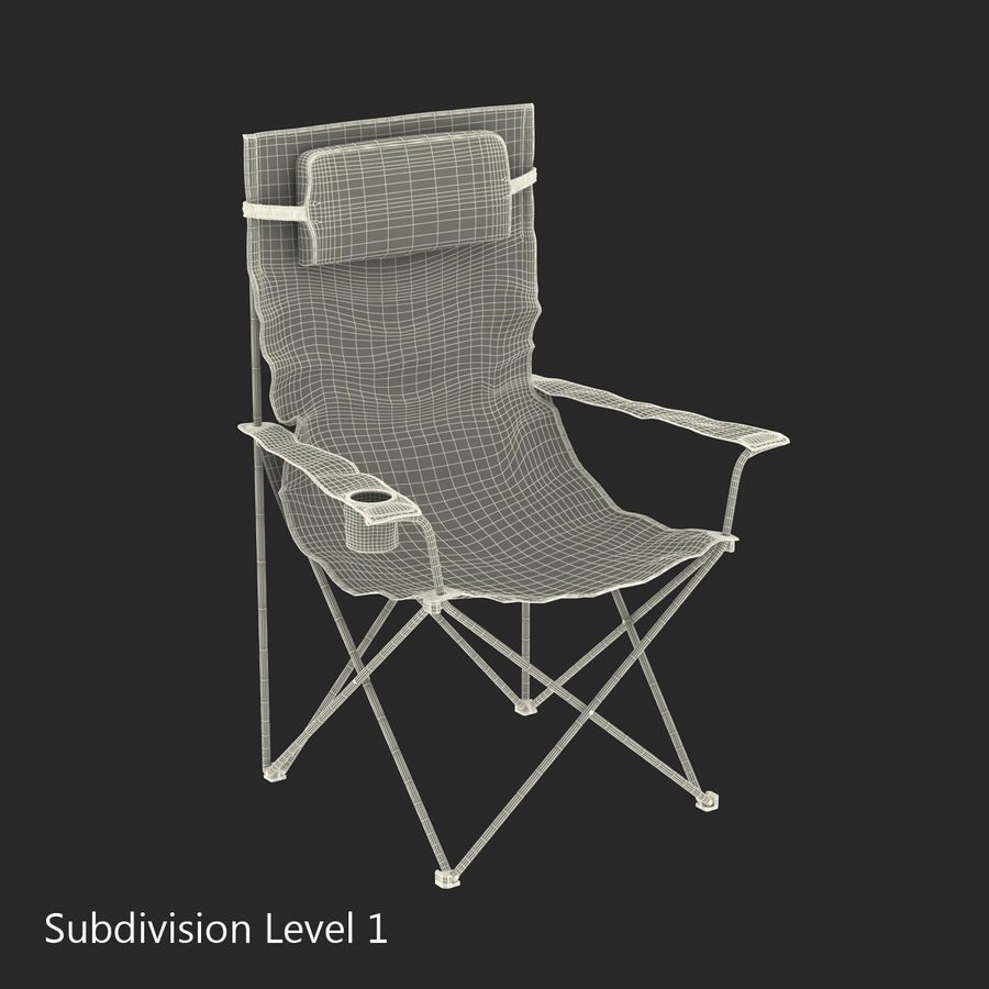 Camping Chair royalty-free 3d model - Preview no. 15