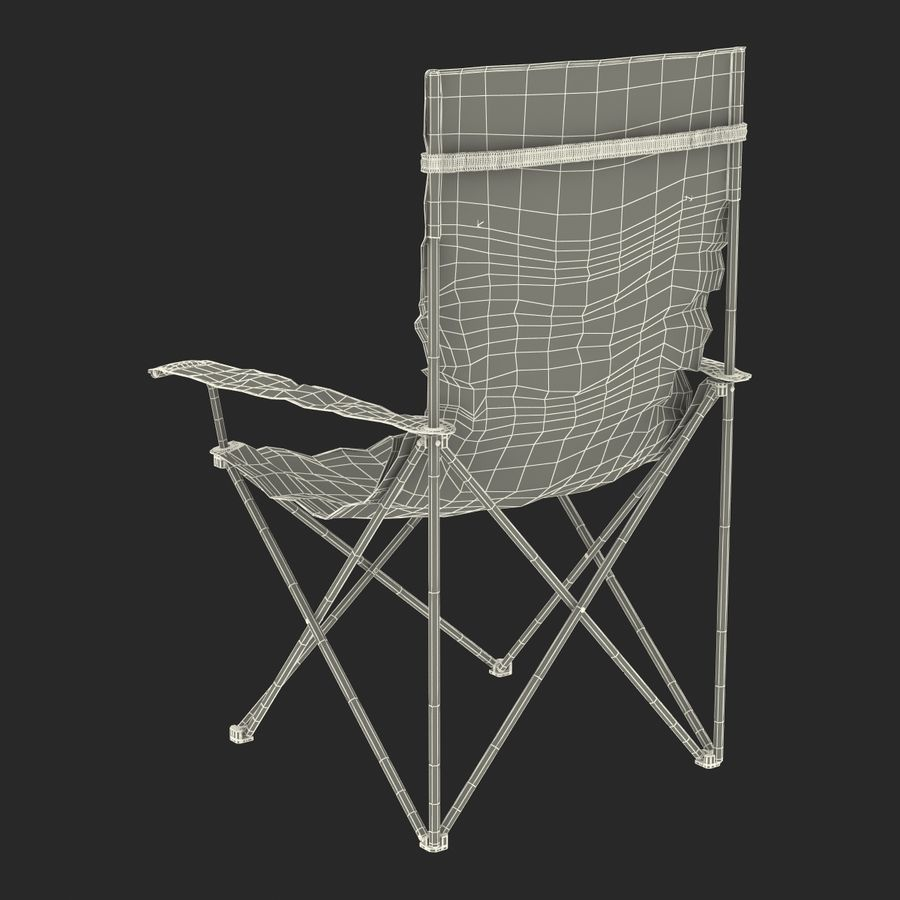 Camping Chair royalty-free 3d model - Preview no. 21