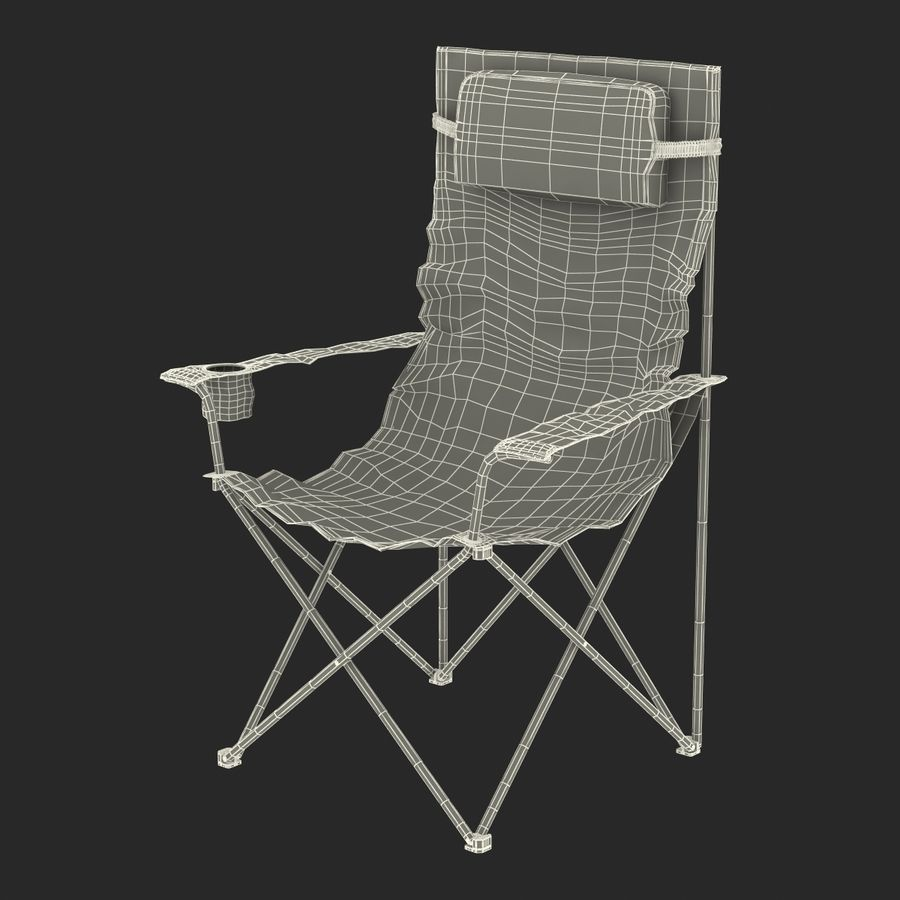 Camping Chair royalty-free 3d model - Preview no. 20