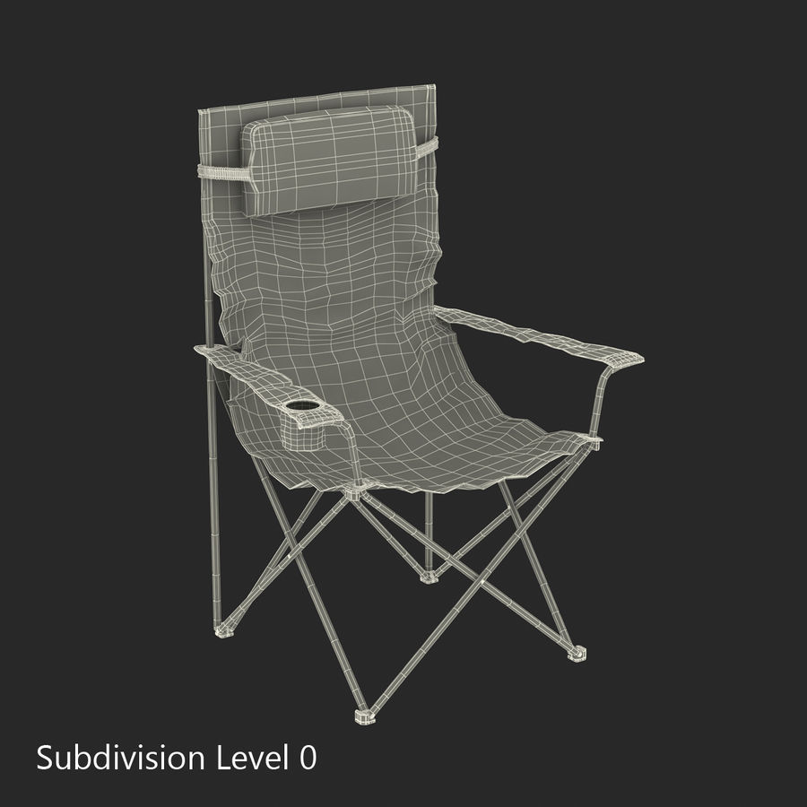 Camping Chair royalty-free 3d model - Preview no. 14