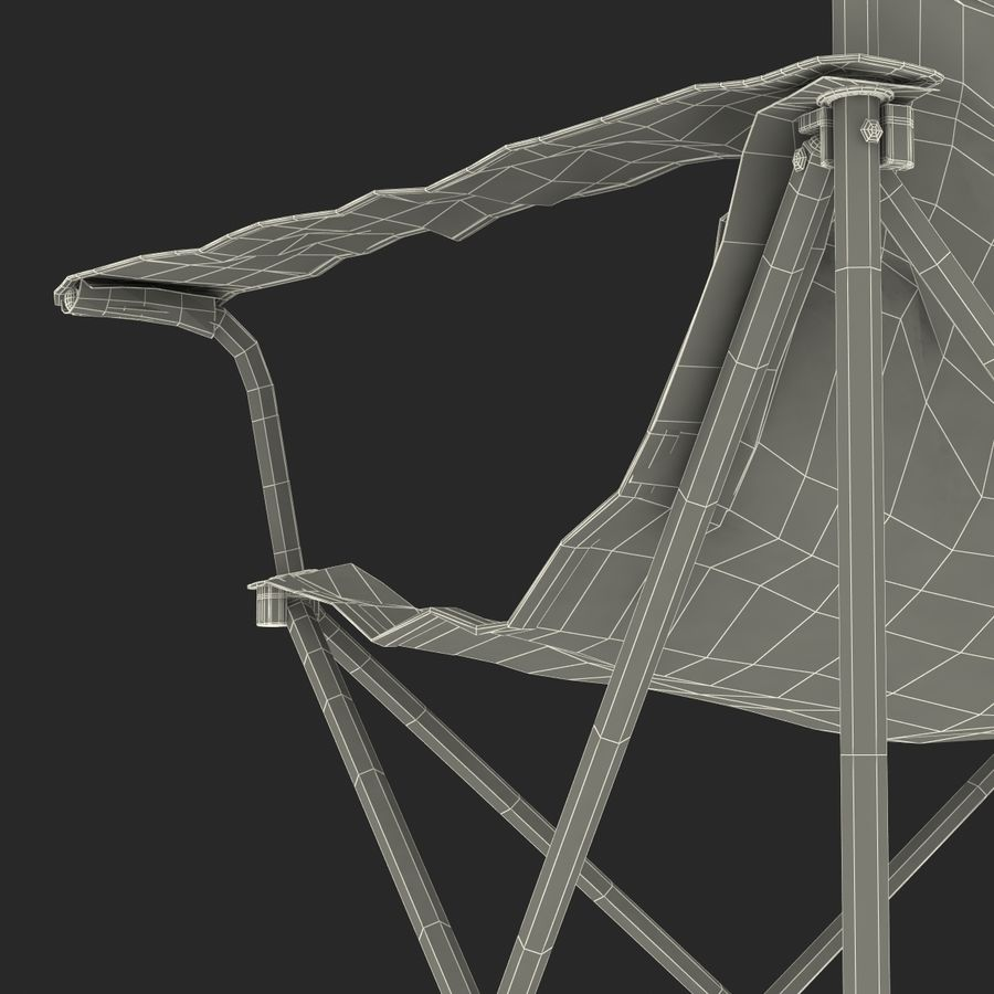Camping Chair royalty-free 3d model - Preview no. 26