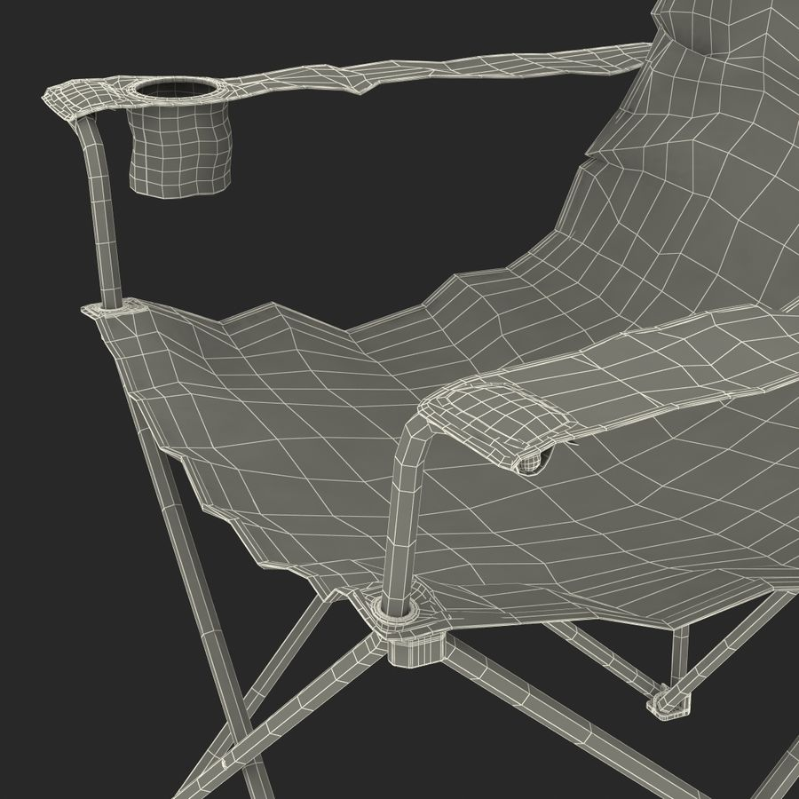 Camping Chair royalty-free 3d model - Preview no. 27