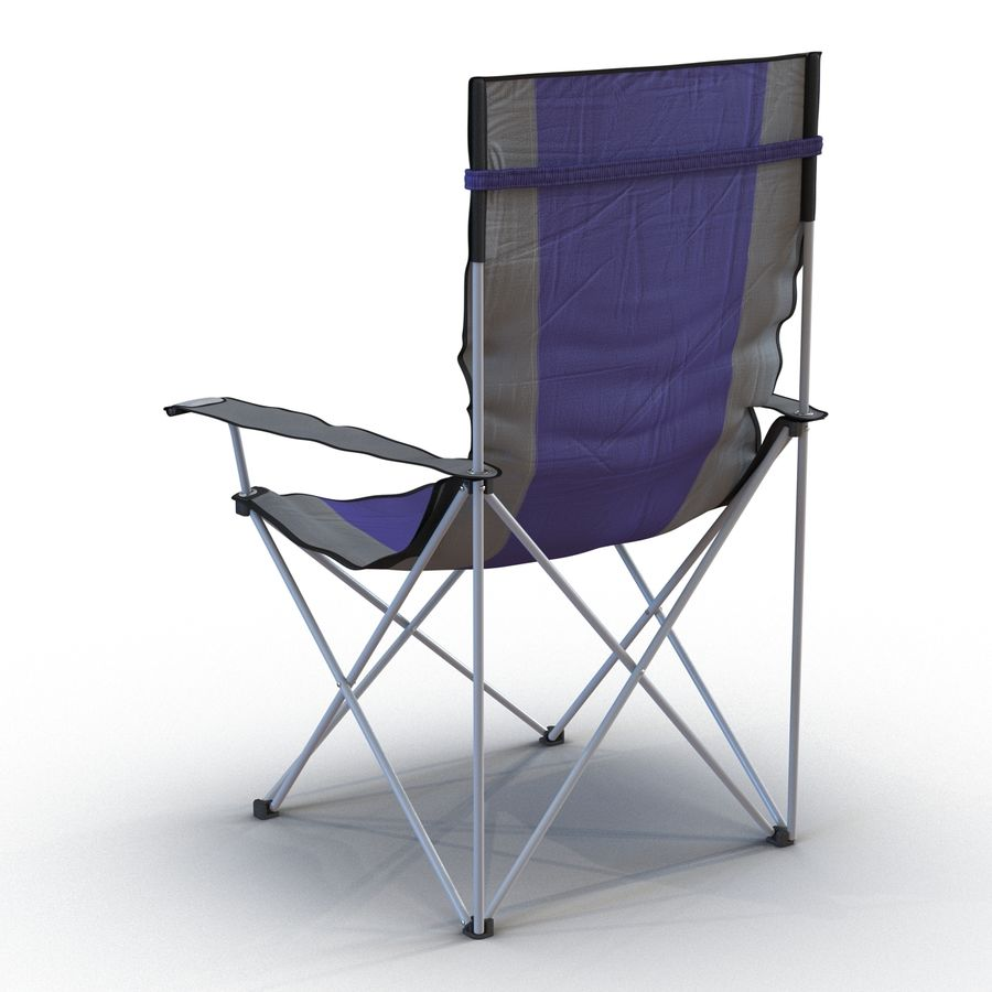 Camping Chair royalty-free 3d model - Preview no. 5