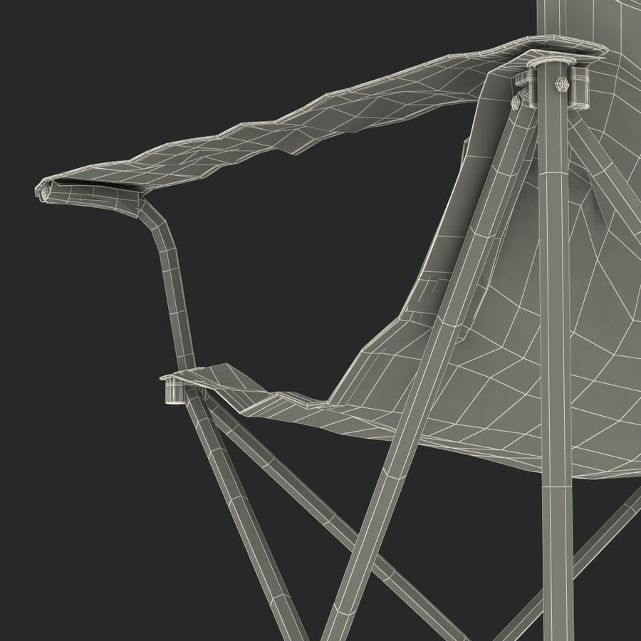 Camping Chair 2 royalty-free 3d model - Preview no. 33