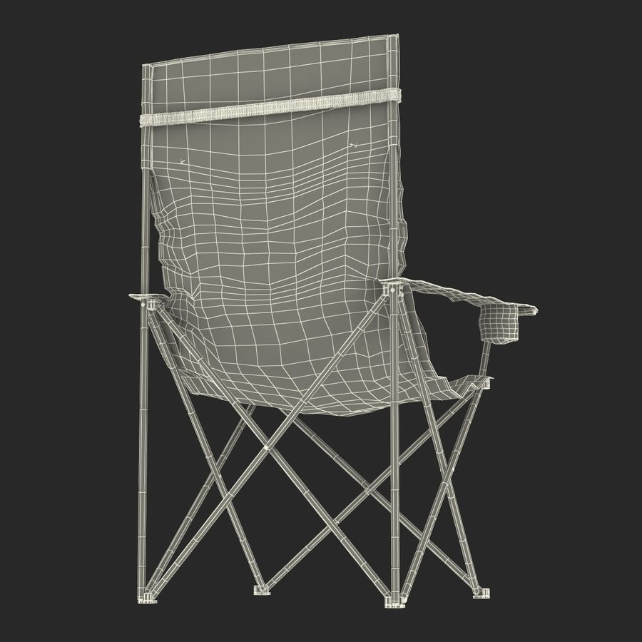 Camping Chair 2 royalty-free 3d model - Preview no. 24