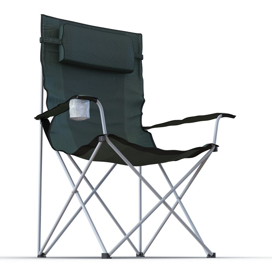 Camping Chair 2 royalty-free 3d model - Preview no. 8