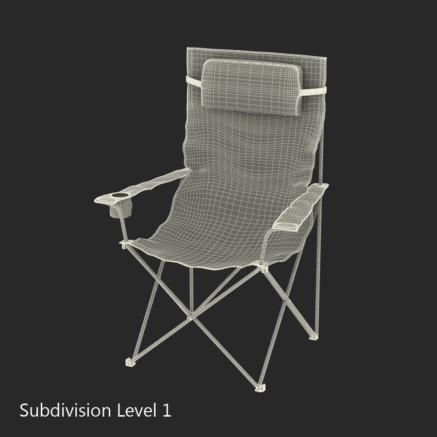 Camping Chair 2 royalty-free 3d model - Preview no. 18