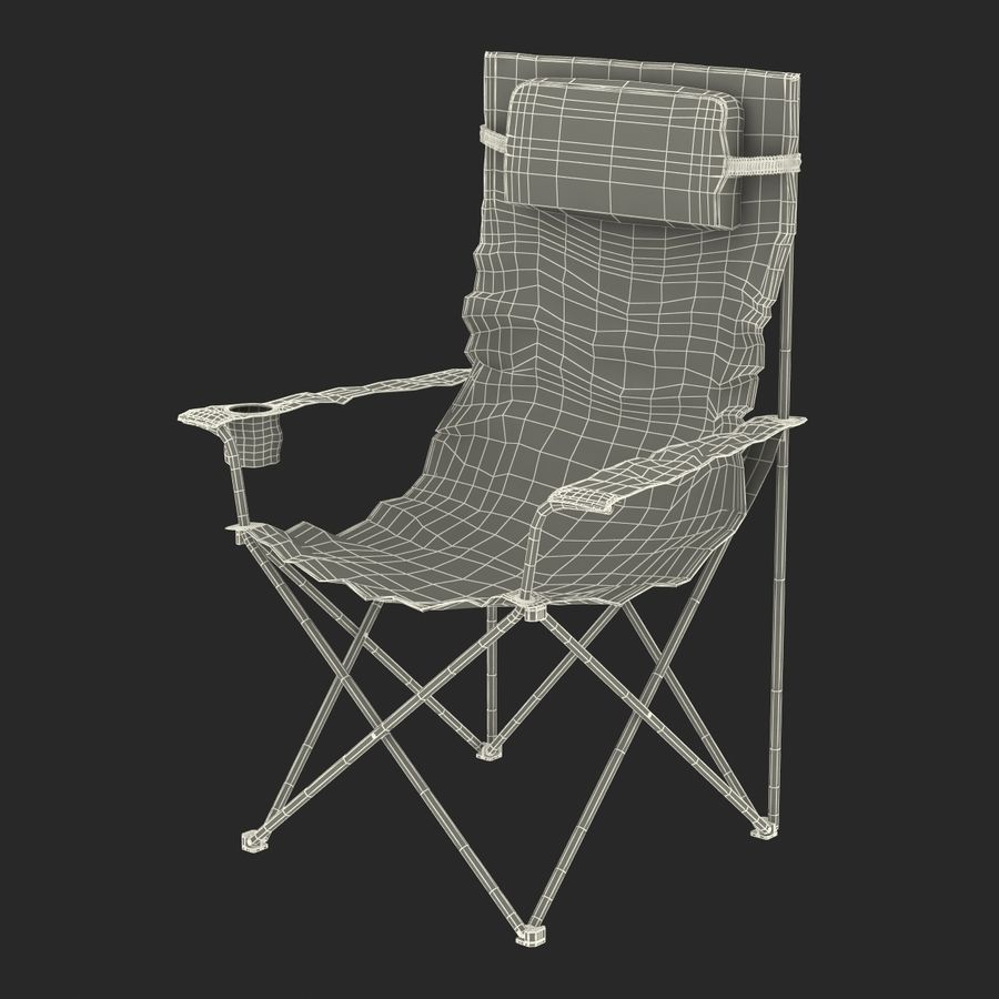 Camping Chair 2 royalty-free 3d model - Preview no. 23
