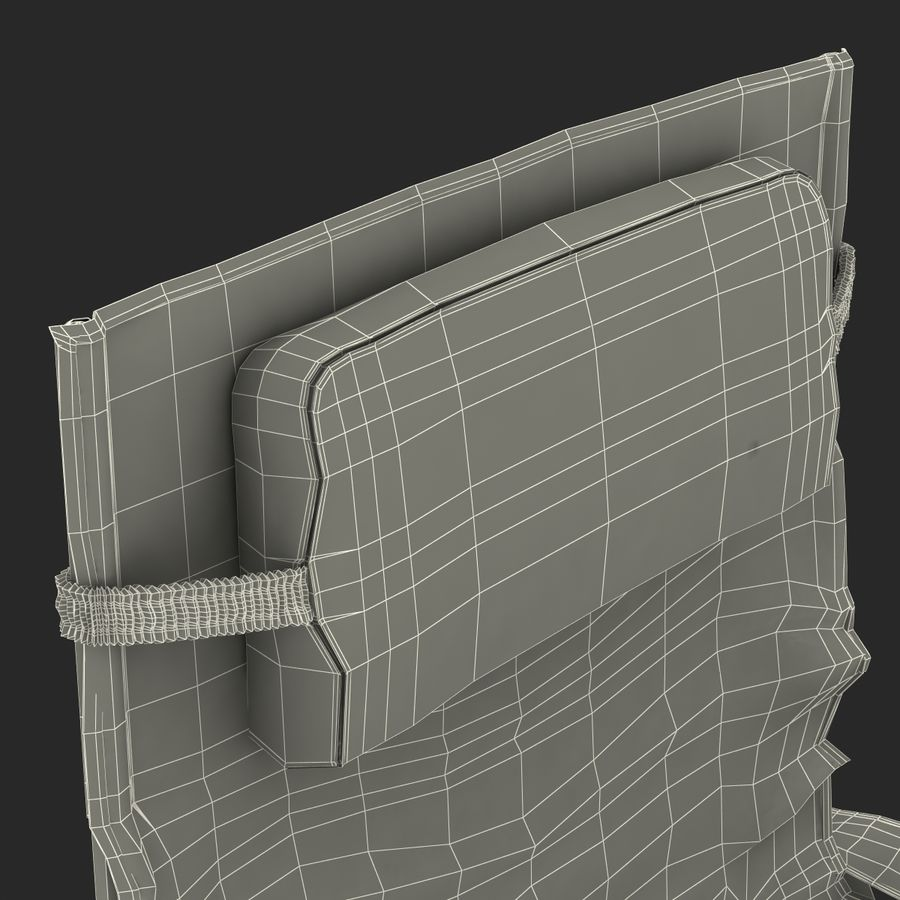 Camping Chair 2 royalty-free 3d model - Preview no. 31