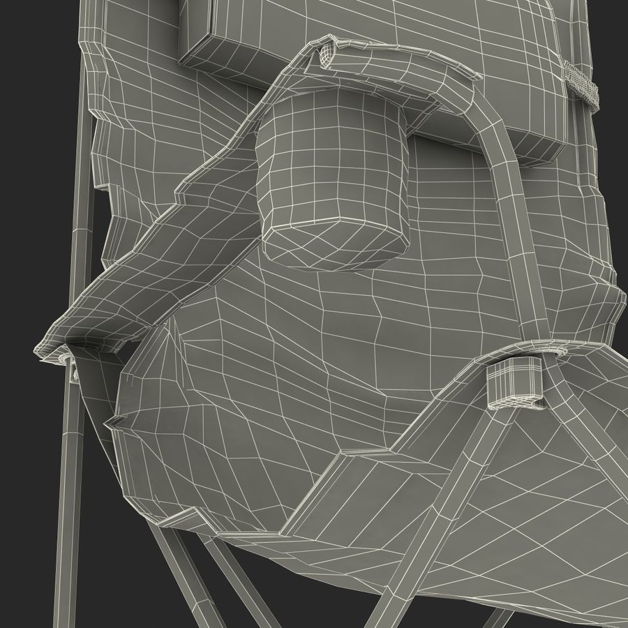 Camping Chair 2 royalty-free 3d model - Preview no. 30