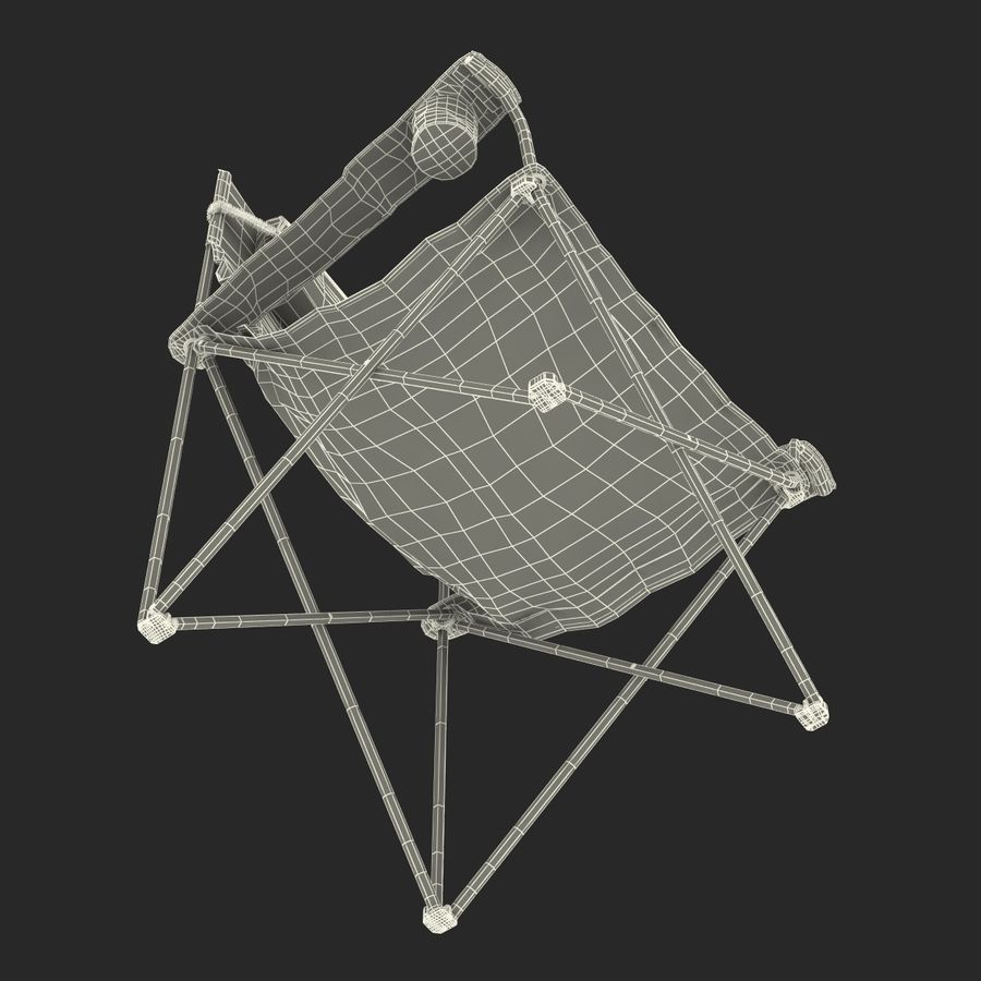 Camping Chair 2 royalty-free 3d model - Preview no. 27