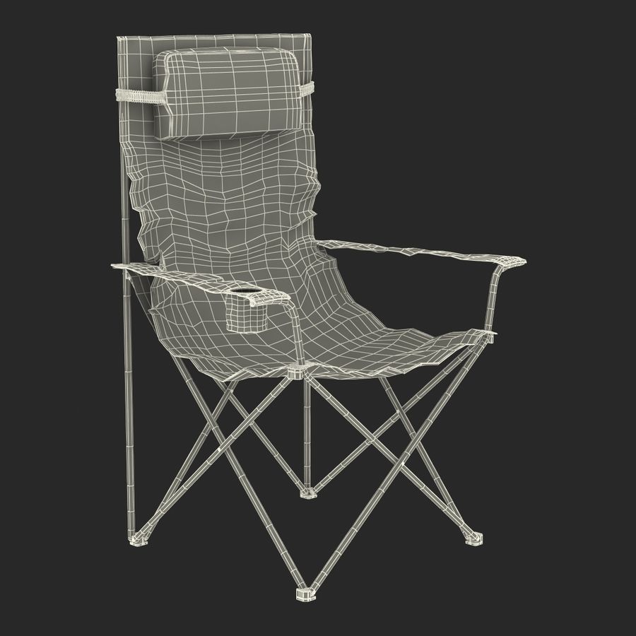 Camping Chair 2 royalty-free 3d model - Preview no. 22