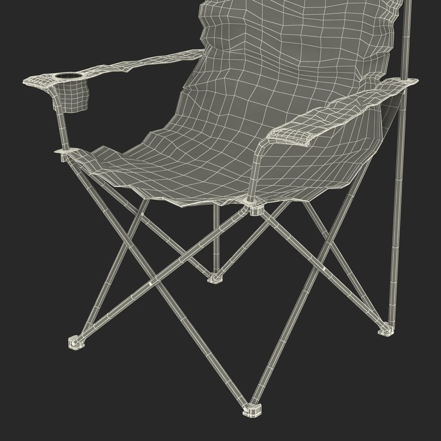 Camping Chair 2 royalty-free 3d model - Preview no. 29