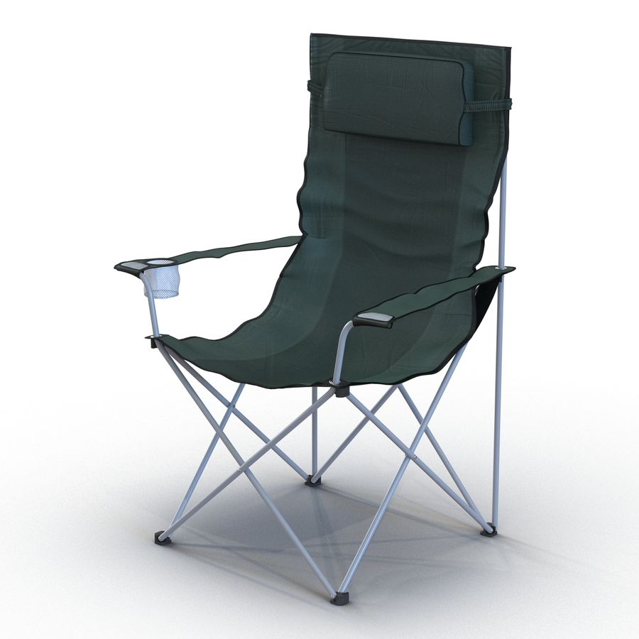 Camping Chair 2 royalty-free 3d model - Preview no. 5