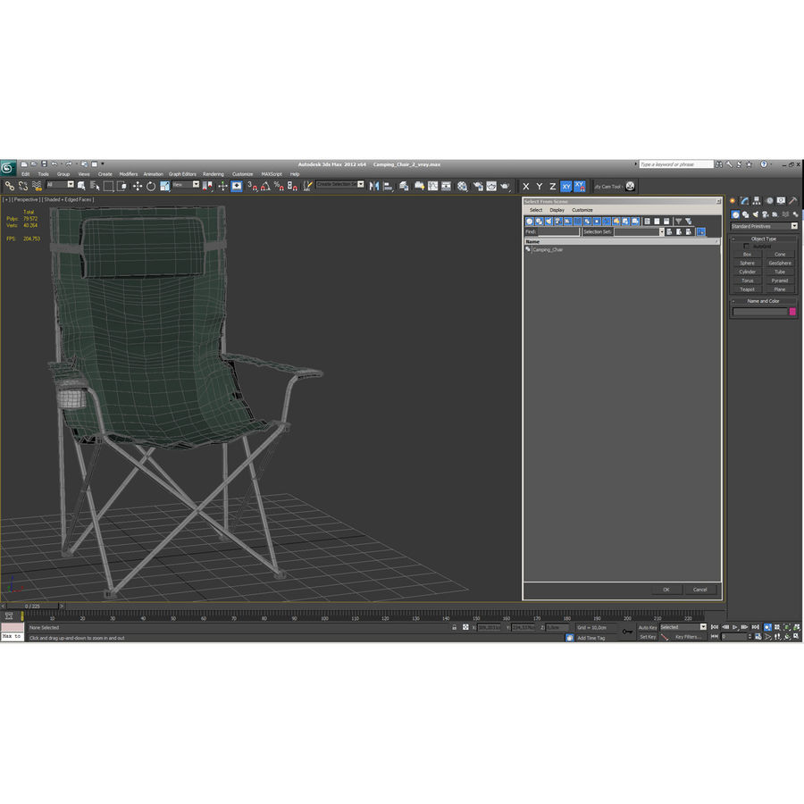 Camping Chair 2 royalty-free 3d model - Preview no. 21