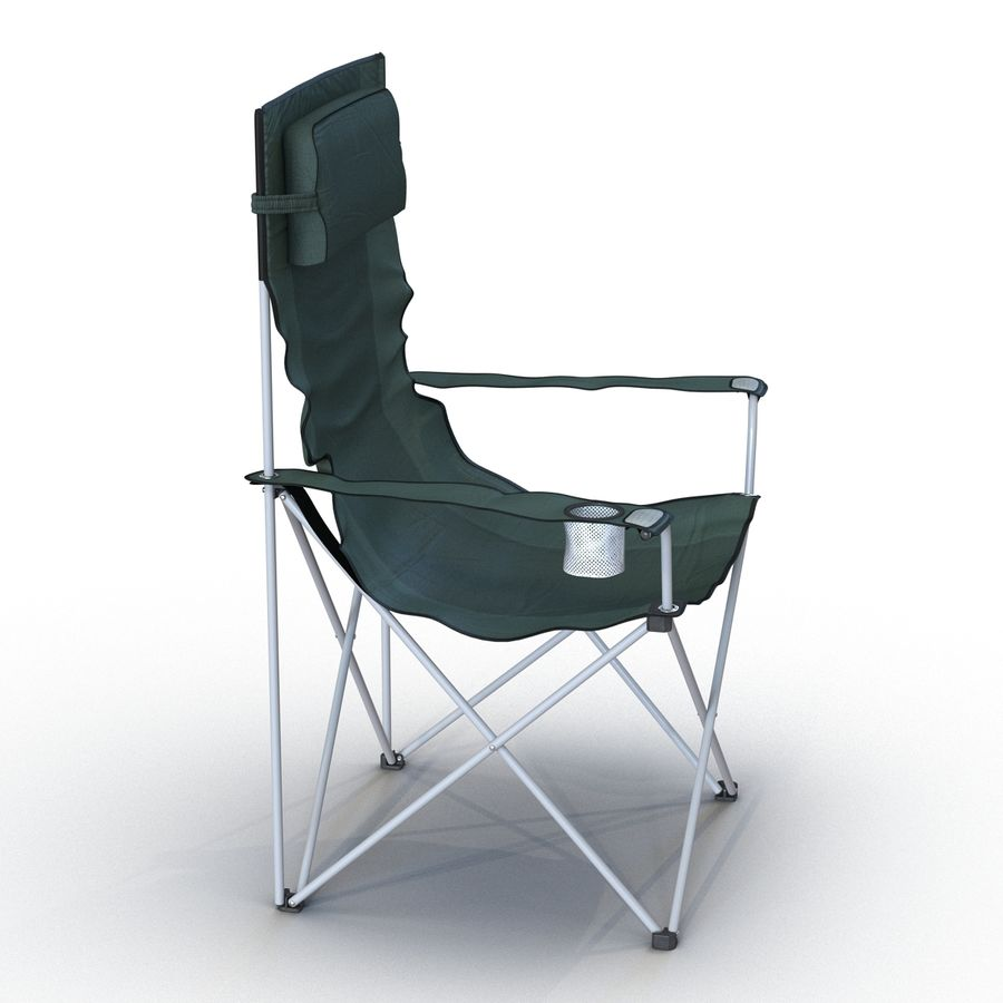 Camping Chair 2 royalty-free 3d model - Preview no. 4