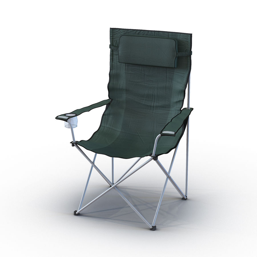 Camping Chair 2 royalty-free 3d model - Preview no. 2