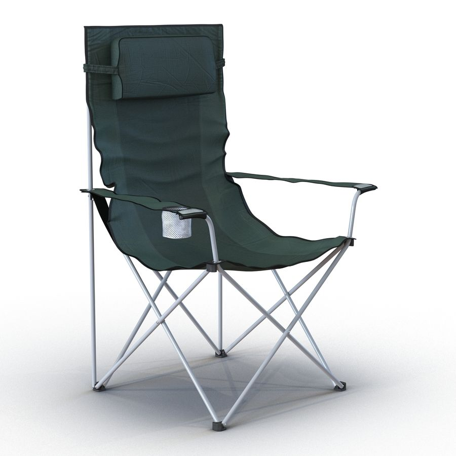 Camping Chair 2 royalty-free 3d model - Preview no. 3