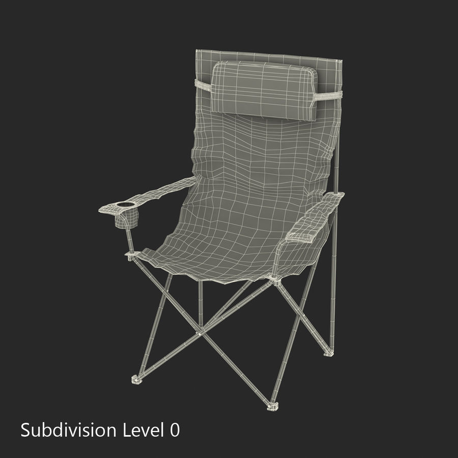 Camping Chair 2 royalty-free 3d model - Preview no. 17