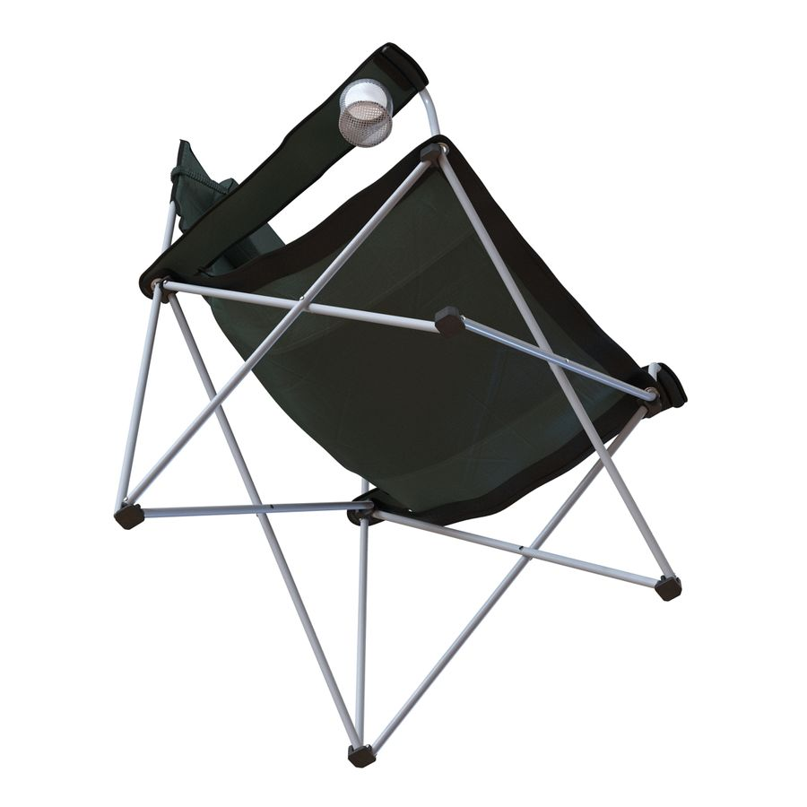 Camping Chair 2 royalty-free 3d model - Preview no. 10