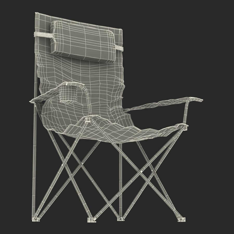 Camping Chair 2 royalty-free 3d model - Preview no. 25