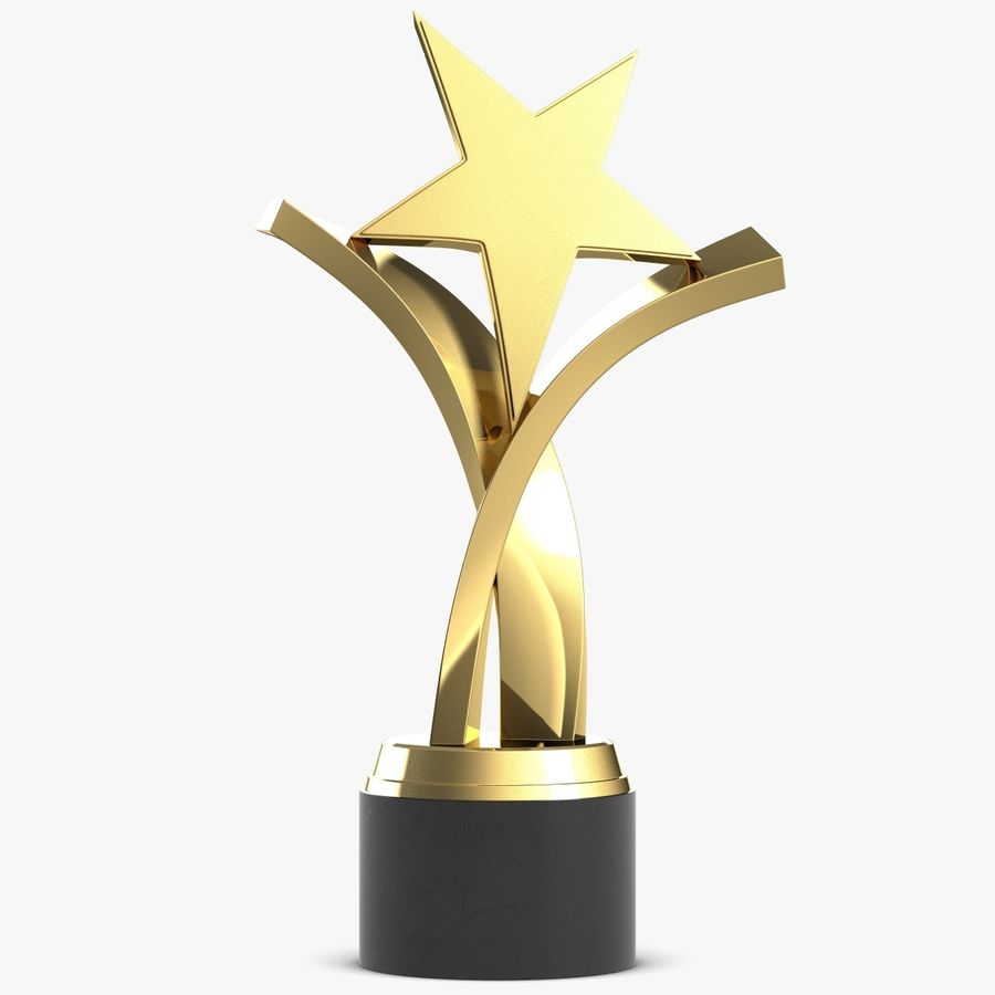 Award Trophy 2 royalty-free 3d model - Preview no. 1