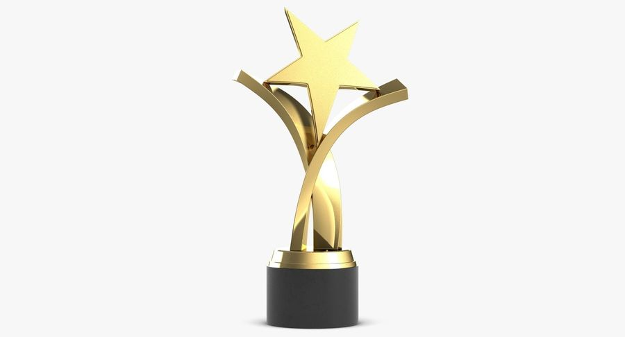 Award Trophy 2 royalty-free 3d model - Preview no. 2